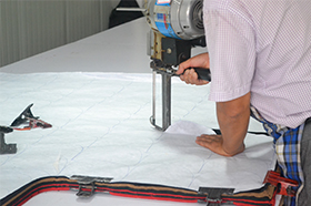 cutting of fabrics