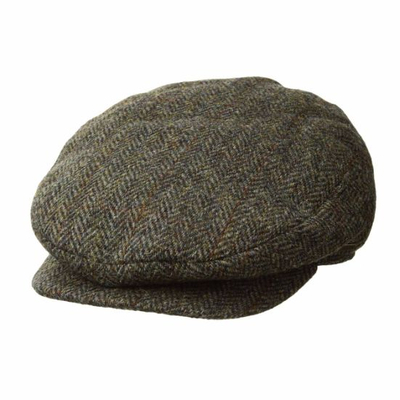 Wholesale 100% Wool Custom Fashion Beret Tweed Newsboy IVY Hat
