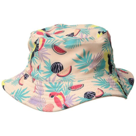 Vibrant Style Bucket Child Hat with Customized Logo Adorns Front