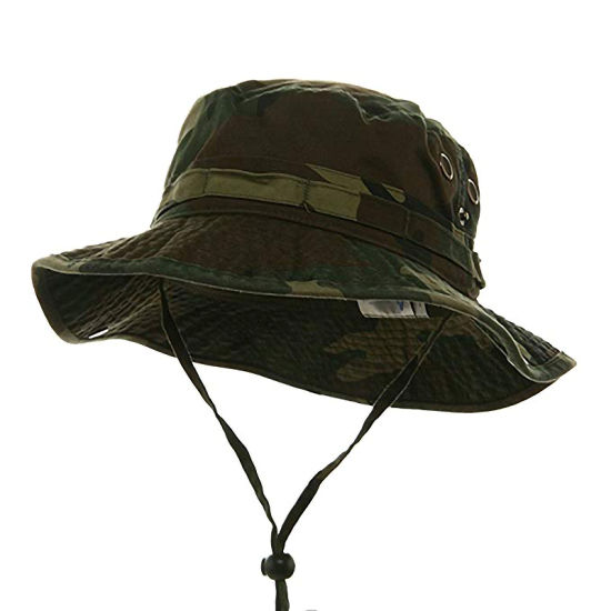 Classic Cotton Outdoor Climbing and Fishing Camouflage Bucket Hat