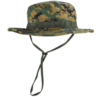 Custom Folding Breathable Fashion Camouflage Wide Brim Bucket Hat Cap