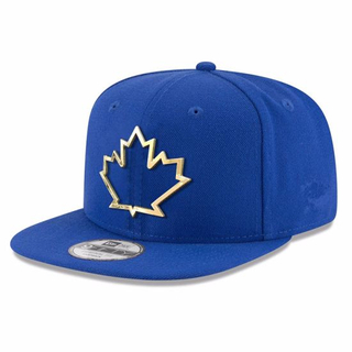 Adjustable Baseball Cap Blue Matel Framed Logo New Fashion Era Snapback with Flat Visor Bill