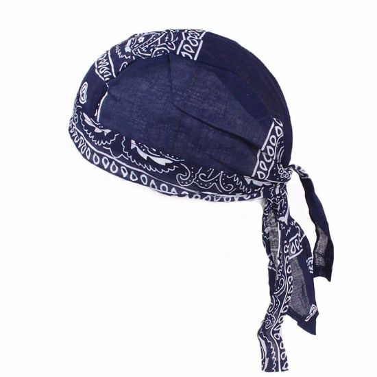 Wholesale Custom Breathable Quick-Dry Sport Bandana Hat Pirate Durag Cap